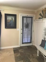 an easy way to create privacy for a full glass front door simply