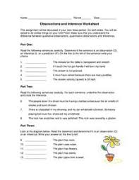 observation inference science lesson plans u0026 worksheets