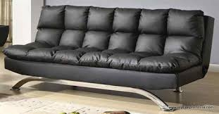 Klik Klak Sofa Bed 368b Black Color Pu Leather Pillow Top Klik Klak Sofa Bed