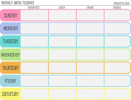 daily planner free template free printable menu planners fill in day of the week format at free printable menu planners fill in day of the week format at the bottom