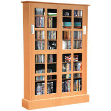 Bookcase With Sliding Glass Doors by Amazon Com Atlantic Windowpane Media Cabinet With Sliding Glass