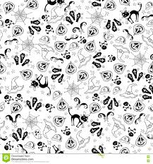 halloween kids background halloween seamless monochrome kids doodle pattern the day of the