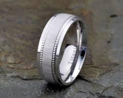 wedding bans mens black titanium wedding band matte finish stainless