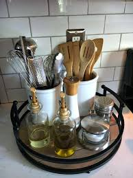 kitchen theme ideas for apartments organizing the kitchen counter with a simple tray tips