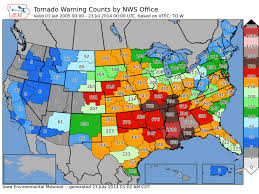 tornado map here are maps of all 38 728 tornado warnings issued since 2002