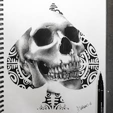 skull cards on behance