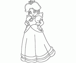 super mario daisy coloring pages coloring