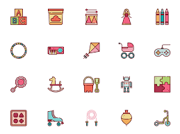 toys icons set sketch freebie download free resource for sketch
