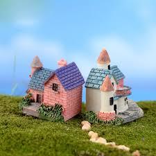carving resin mini brick villa garden miniature craft micro