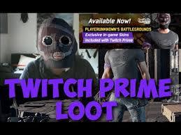 pubg twitch twitch prime loot skin showcase playerunknown s battlegrounds