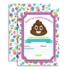 wrap party invitations amazon com emoji party pooper birthday party fill in