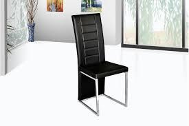 chaise noir et blanc chaises rona pu et acier chromé noir blanc chaises meuble de