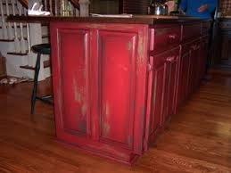 Distressed Kitchen Cabinets Best 20 Red Distressed Furniture Ideas On Pinterest Distressed