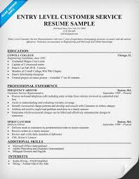 Sample Resume Of Customer Service Manager by Resume Examples For Entry Level Sample Entry Level Resume 8