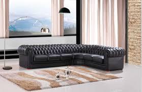 salon canapé noir moderne sofa sectionnel pour en cuir chesterfield canapé noir