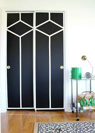 Painting Sliding Closet Doors Diy Painted And Patterned Doors