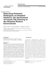 detecting potential pathogens on hospital surfaces an assessment