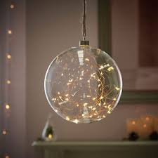 copper wire led lights 20cm plug in indoor glass wedding bauble ball copper wire fairy