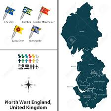 Manchester England Map by Vector Map Of North West England United Kingdom With Regions