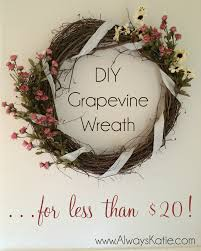 always home sweet home floral grapevine wreath tutorial
