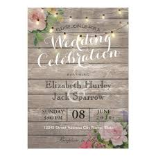 wood wedding invitations rustic wedding invitation floral wood string light zazzle