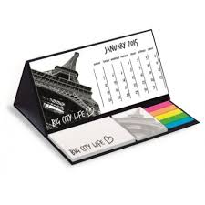 post it sur bureau imprimez en ligne votre logo sur le calendrier de bureau post it maxi