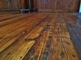 Rustic Wide Plank Flooring Reclaimed Wide Plank Hemlock In A Customer U0027s Bar Area Douglas