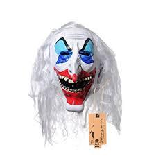 Latex Halloween Costume Amazon Yufeng Halloween Clown Terrorist Masks Creepy Scary