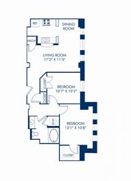 Floor Plan Of A Living Room Studio 1 2 U0026 3 Bedroom Apartments In Washington Dc Camden