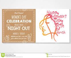 Special Invitation Card Invitation Card For Women U0027s Day Celebration Stock Illustration