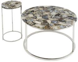 faux agate side table agate coffee table amazing libra round on nickel frame pavilion