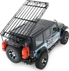 lowered 4 door jeep wrangler garvin 44074 wilderness expedition rack for 07 18 jeep wrangler