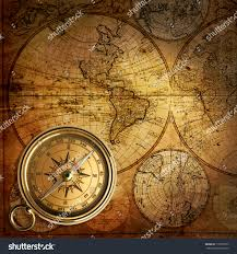 Vintage Map Old Compass On Vintage Map 1746 Stock Photo 115029373 Shutterstock