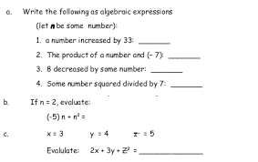 pictures on algebraic expressions worksheets 6th grade wedding