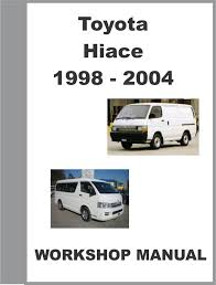 1999 toyota hiace workshop manual 1 van pinterest toyota