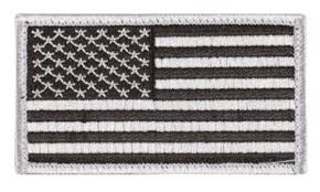 American Flag Rugs Embroidered American Flag Patch Silver And Black 3 3 8