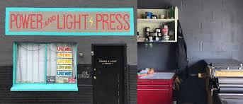power and light press power light press artisanal workshops studios typography guru