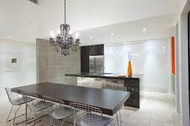 Industrial Crystal Chandelier Black Crystal Chandelier Kitchen Industrial With Bertoia Chair