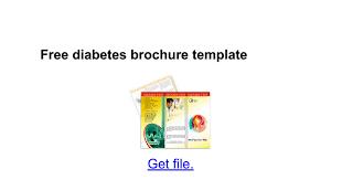 free diabetes brochure template google docs