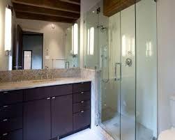bathroom fantastic walk in shower design with cream polished