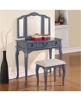 Vanity Table With Tri Fold Mirror Black Friday Special Poundex F4159 Bobkona Tania Tri Fold Mirror