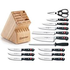 wusthof kitchen knives wusthof classic knife block set with gourmet steak