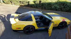 black and yellow corvette 1992 corvette one of a greenwood package lt1 c4 yellow black