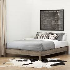Platform Bed Canada South Shore Munich Weathered Oak Platform Bed Walmart Canada