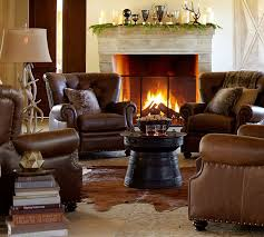 Pottery Barn Furniture Lansing Leather Armchair Pottery Barn