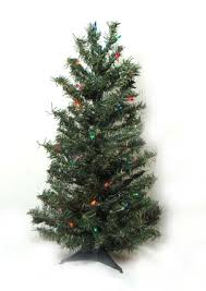 2 pre lit canadian pine artificial tree multi lights