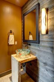Reclaimed Wood Vanity Table Extraordinary Reclaimed Wood Vanity With Double Sink And Oil