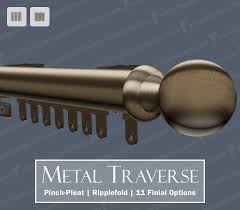 decorative metal traverse rods are one of the most popular styles