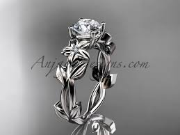 flower engagement rings engagement rings white gold wedding ring adlr424