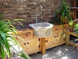 Outdoor Kitchen Sink by Stone Outdoor Kitchen Sinks Practical Outdoor Kitchen Sinks